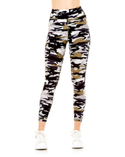 Pearl Camo Midi Leggings