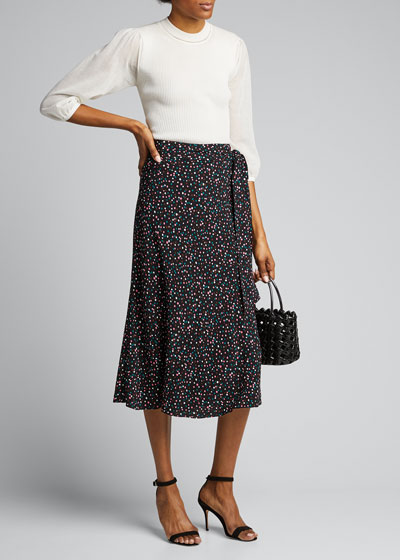 Lesley Crepe Midi A-Line Skirt