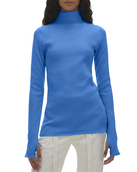 Image 1 of 1: Long-Sleeve Turtleneck Top