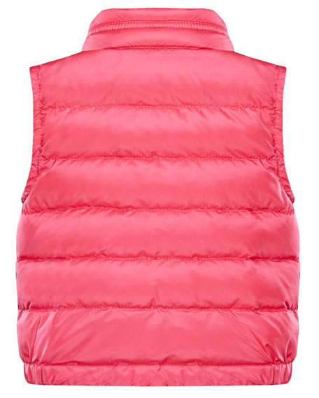 Girl's Amaury Quilted Vest, Size 9M-3