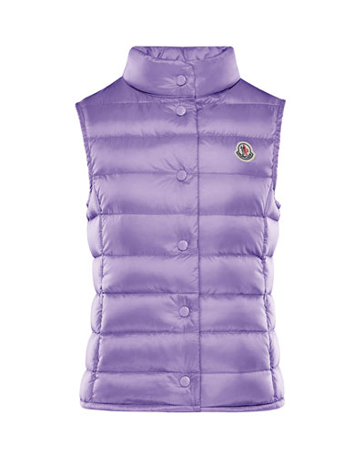 Girl's Liane Quilted Snap Front Vest  Size 8-14