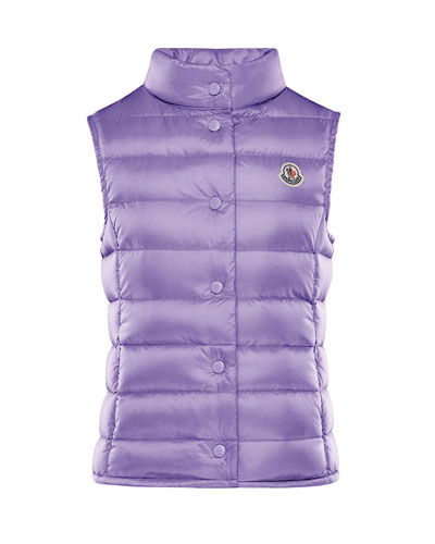 Girl's Liane Quilted Snap Front Vest  Size 4-6