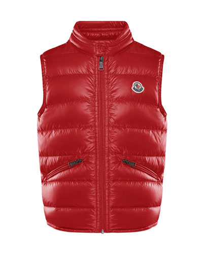 Boy's Gui Quilted Down Vest  Size 4-6