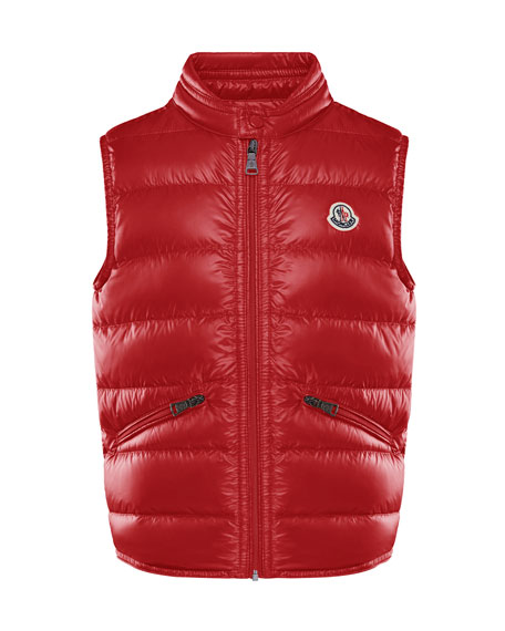 Boy's Gui Quilted Down Vest, Size 4-6