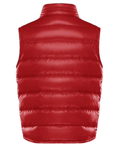 Boy's Gui Quilted Down Vest, Size 8-14