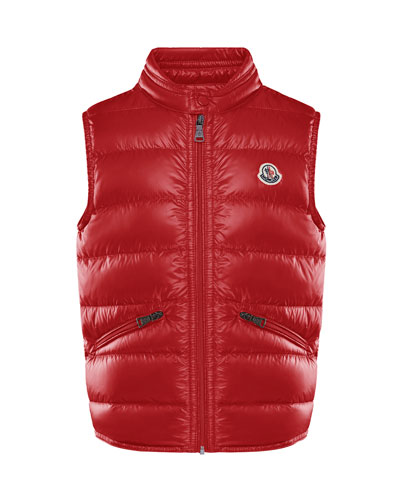 Boy's Gui Quilted Down Vest  Size 8-14
