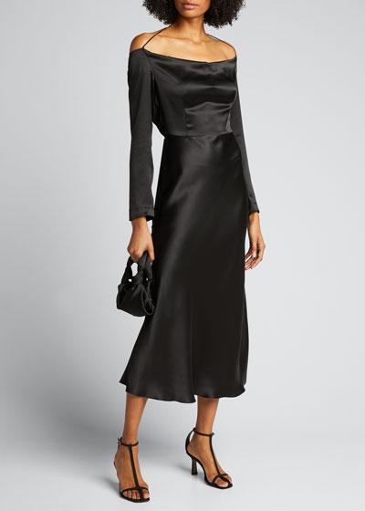Open-Back Silk Cocktail Dress