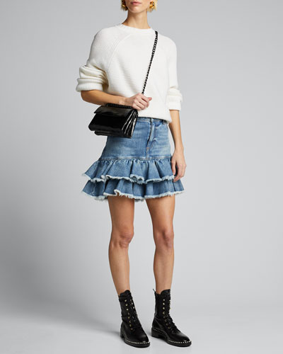 Good High-Rise Ruffle-Hem Skirt