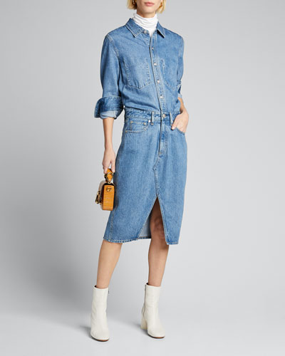 All In One Denim Shirtdress