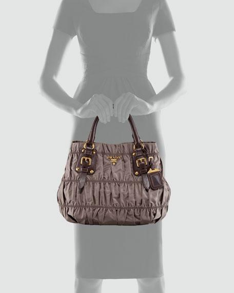 Tessuto Gaufre Tote Bag, Black (Nero)