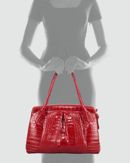 Crocodile Satchel Bag