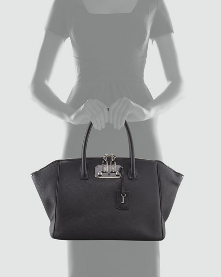 Brera Leather Satchel Bag