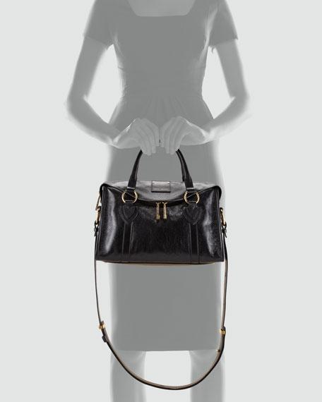 Fulton Top-Handle Bag, Black