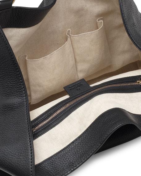 Soho Leather Shoulder Bag, Black