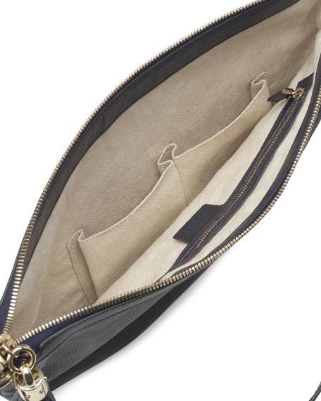 Soho Leather Messenger Bag, Blue