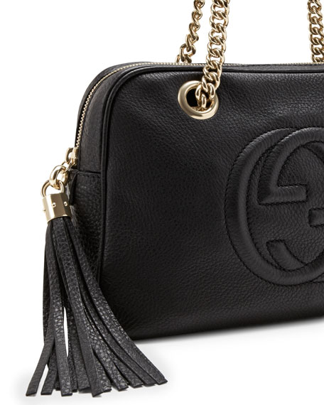 32a184d829fa Gucci Soho Leather Double-Chain-Strap Shoulder Bag