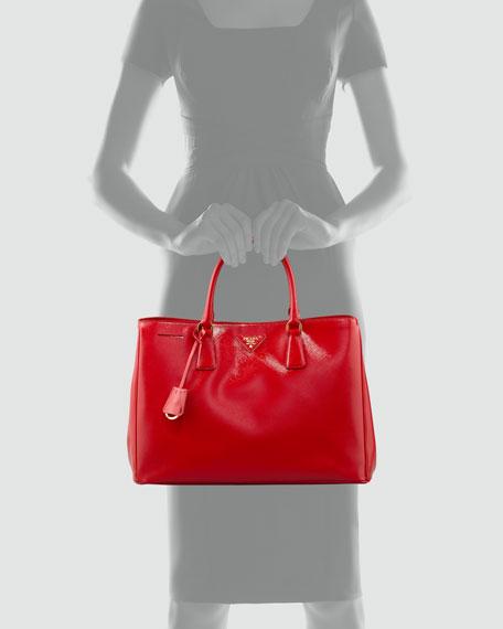 Saffiano Vernice Gardener's Tote Bag, Red (Rosso)