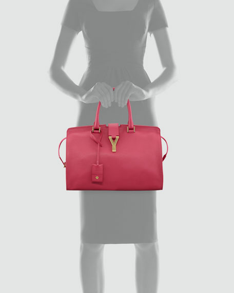 Y Ligne Soft Leather Bag, Fuchsia
