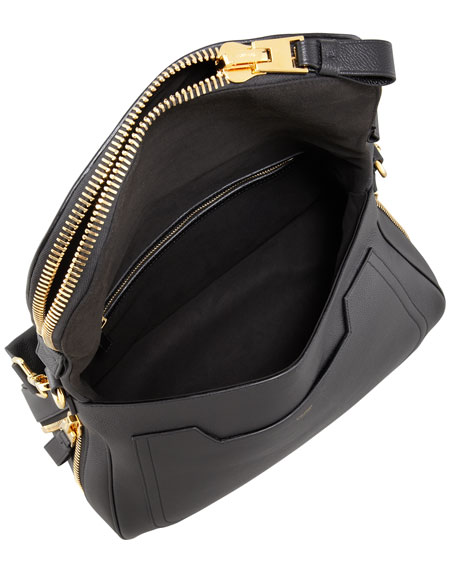 Jennifer Calfskin Shoulder Bag, Black