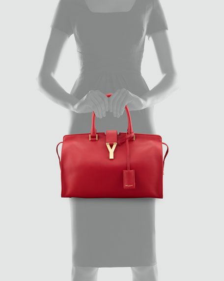 Y Ligne Soft Leather Bag, Red
