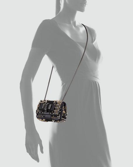 Sweet Charity Studded Crossbody Bag, Black