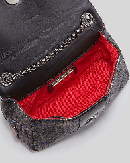 Sweet Charity Watersnake Crossbody Bag