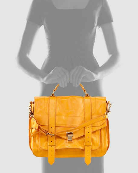 PS1 Large Satchel Bag, Krisna Yellow