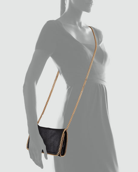 Falabella Chain Crossbody Bag, Black