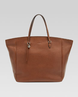 Gucci Bree Leather Tote, Brown