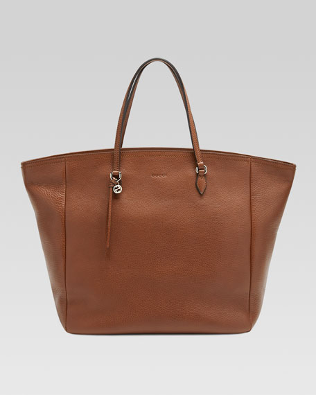 Bree Leather Tote, Brown