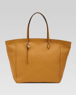 Gucci Bree Leather Tote, Yellow