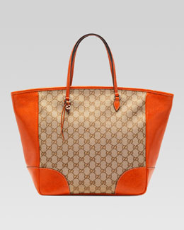 Gucci Bree Original GG Canvas Tote, Orange/Brown