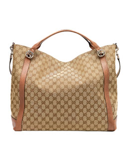 Gucci Miss GG Original GG Canvas Top Handle Bag, Tan