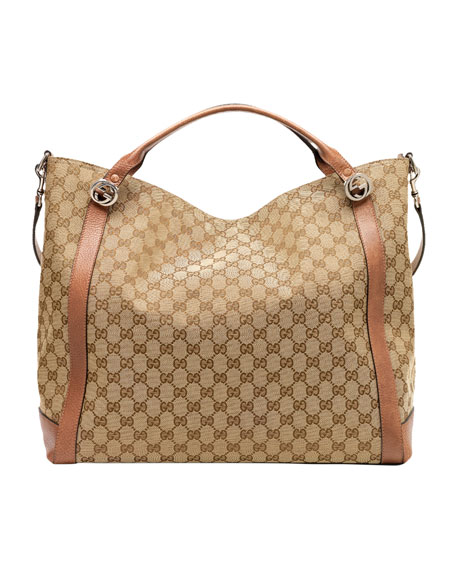 Miss GG Original GG Canvas Top Handle Bag, Tan