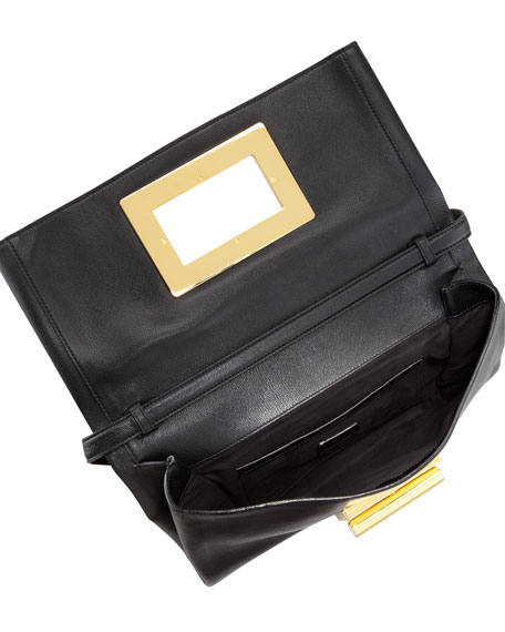 Soft Natalia Leather Clutch Bag
