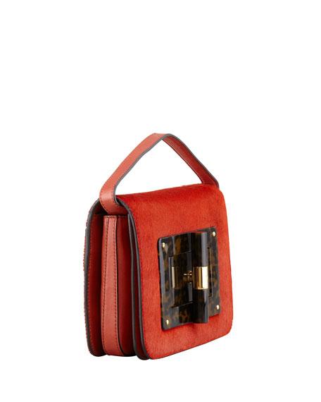 Natalia Medium Calf Hair Clutch Bag