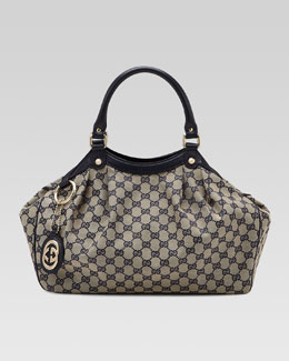 Gucci Sukey Medium Original GG Canvas Tote, Blue