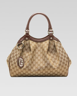 Gucci Sukey Medium Original GG Canvas Tote, Mauve