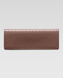 Gucci Broadway Microguccissima Patent Leather Evening Clutch, Mauve