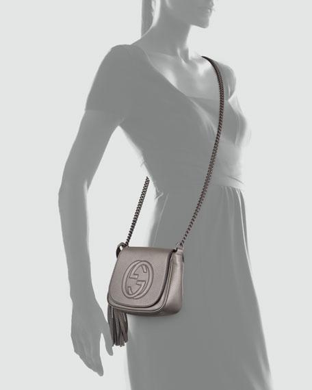 0f150cddf20 Gucci Soho Metallic Leather Chain Crossbody Bag