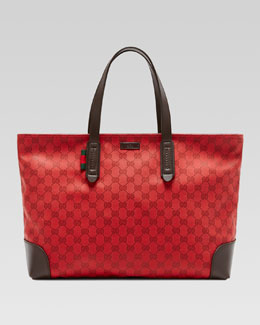 Gucci Original GG Canvas Tote, Red