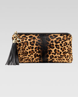 Gucci Broadway Jaguar Print Evening Clutch, Multicolor