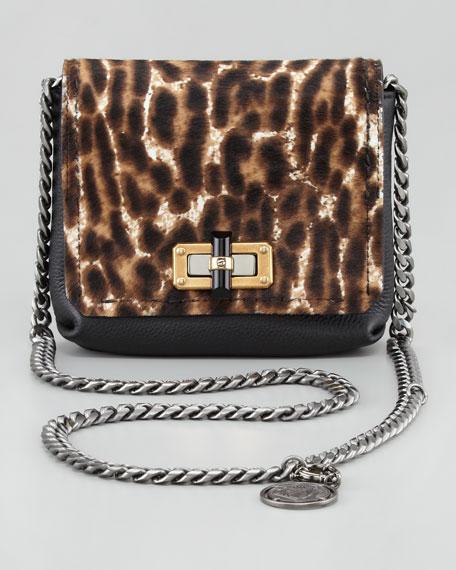 Mini Poppy Crossbody Bag, Leopard