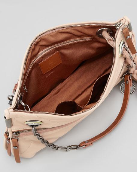 Amalia Medium Quilted Shoulder Bag, Neutral