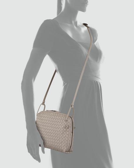 Veneta Small Messenger Bag, Gray