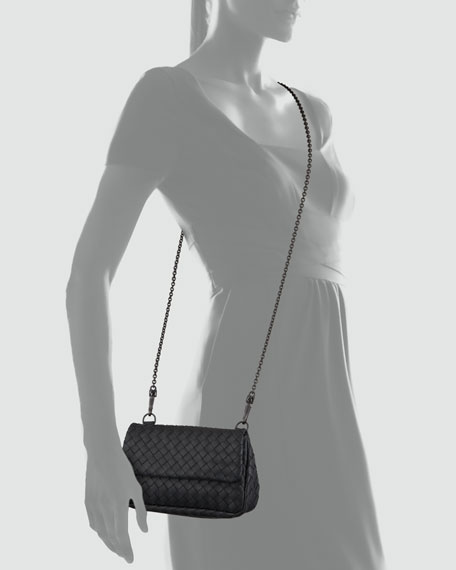 Woven Mini Crossbody Bag, Charcoal