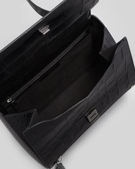 Pandora Medium Crocodile-Stamped Box Bag