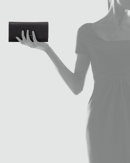 Pandora Chain Leather Wallet, Black