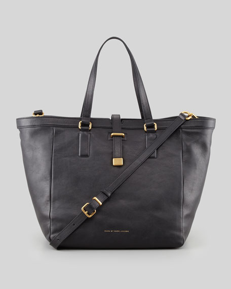 Natural Selection Leather Tote Bag, Black