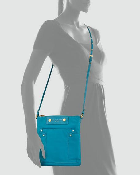 Preppy Nylon Sia Crossbody Bag, Teal